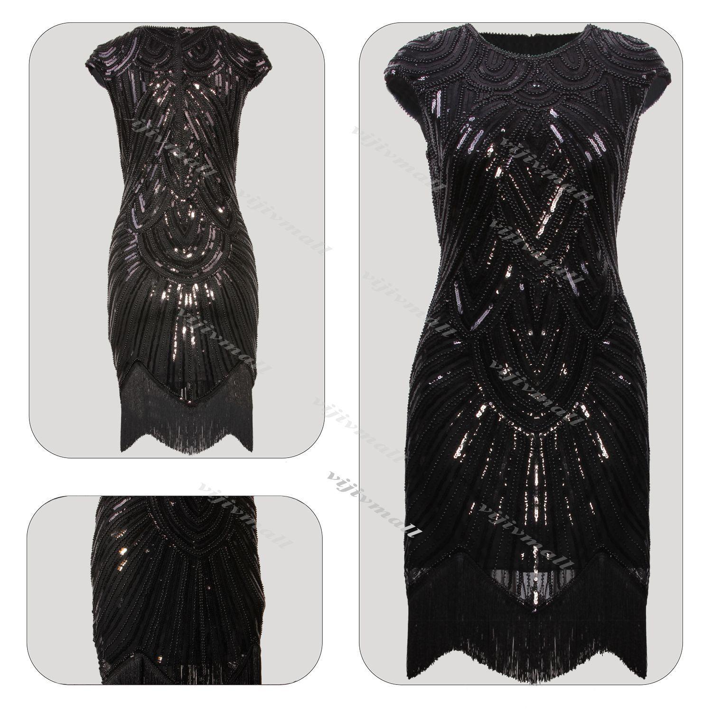 S flapper vintage great gatsby dress tassel fringe s party