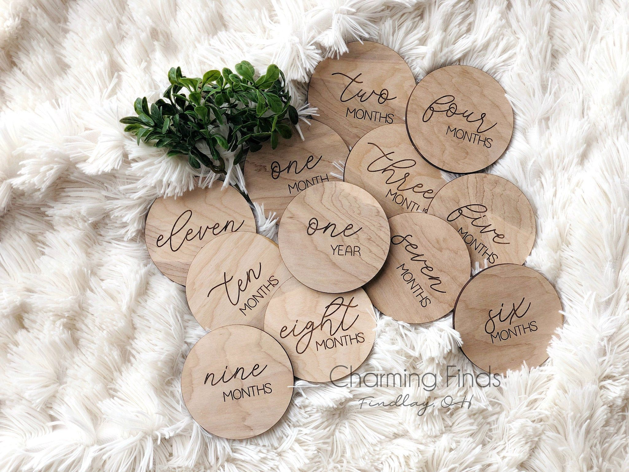baby photo props monthly milestone rounds baby milestone markers baby shower gift