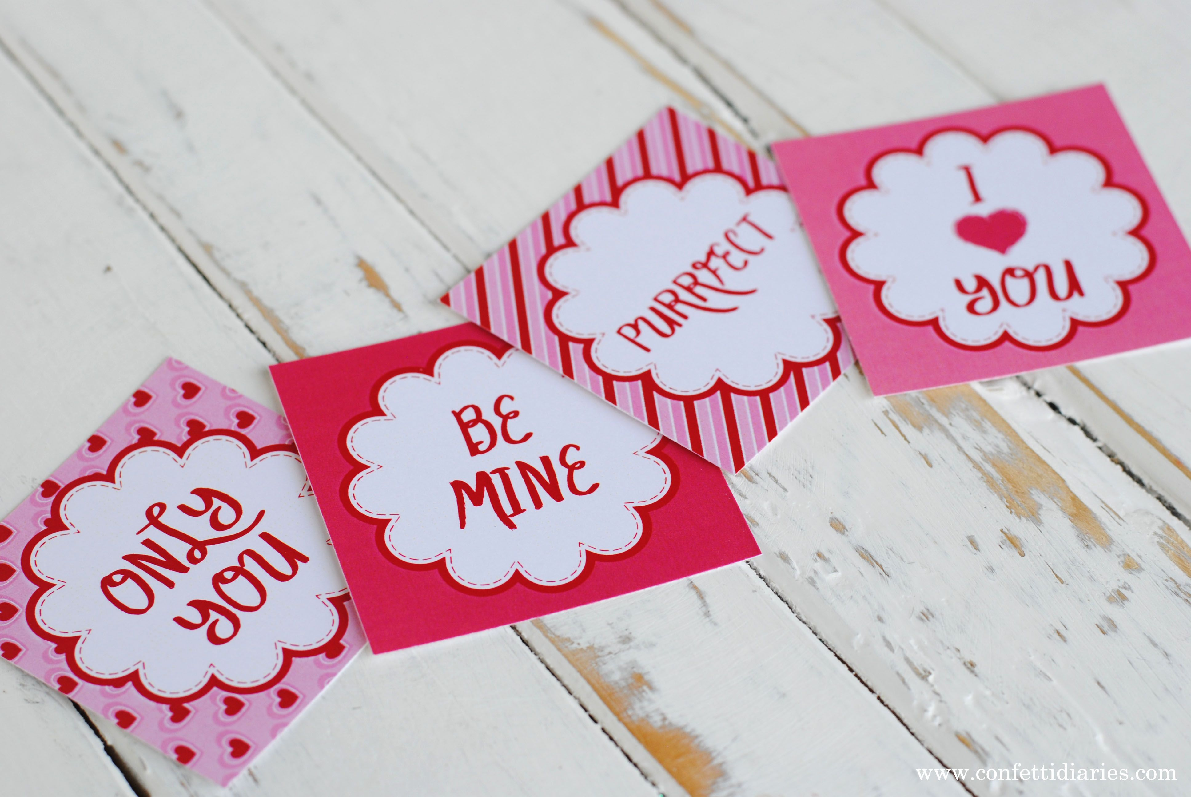 Free Printable Love Token Cards For Valentines Day-Katrinas Paperie
