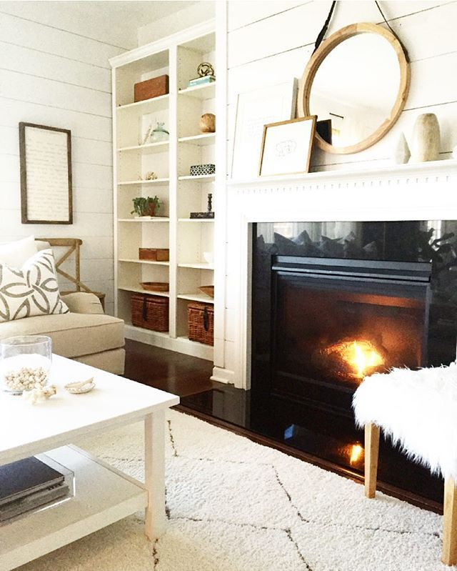 fireplace + built-in
