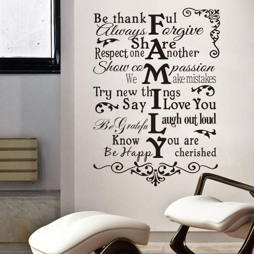 Wall Tattoo Saying Family Rules Family Family Wall Sticker Wall Decal 1