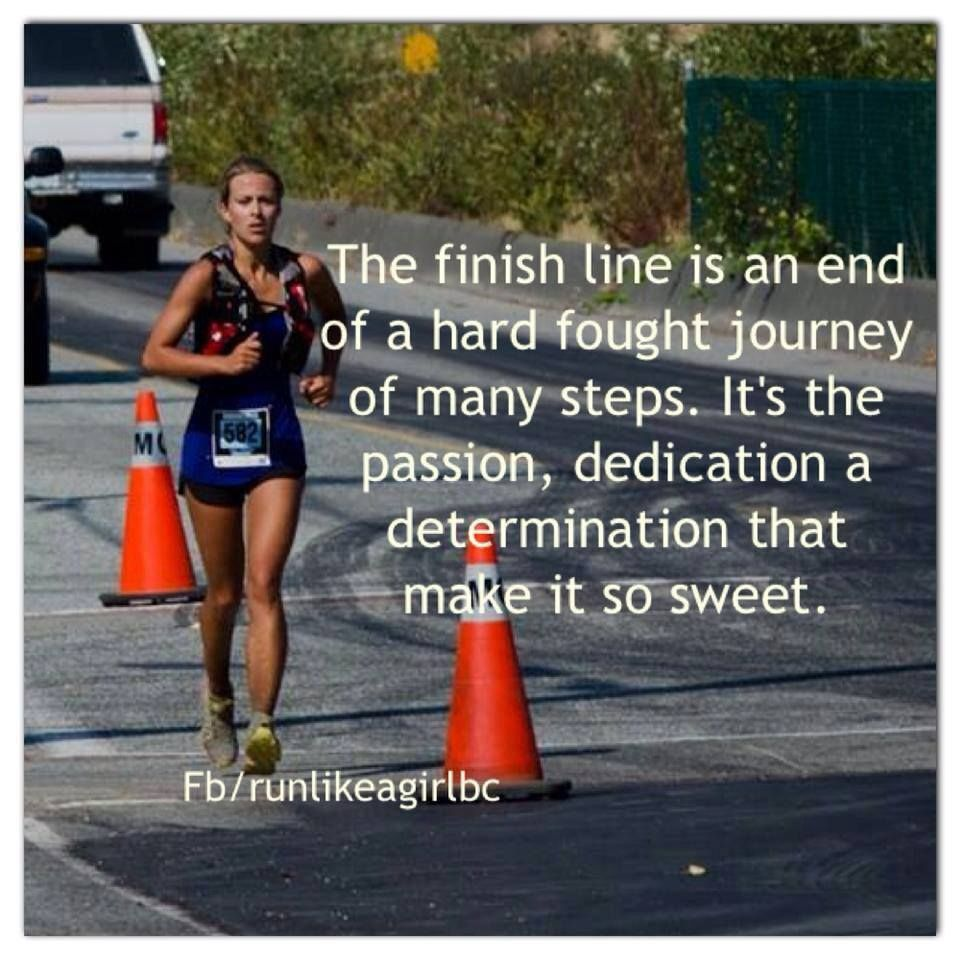 The finish line is an end of a hard fought journey of many
