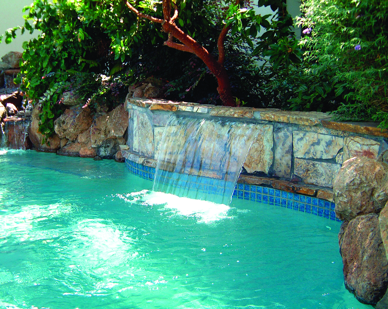 Sheer Descent Extended Lip Waterfall Pool Ideas Pinterest