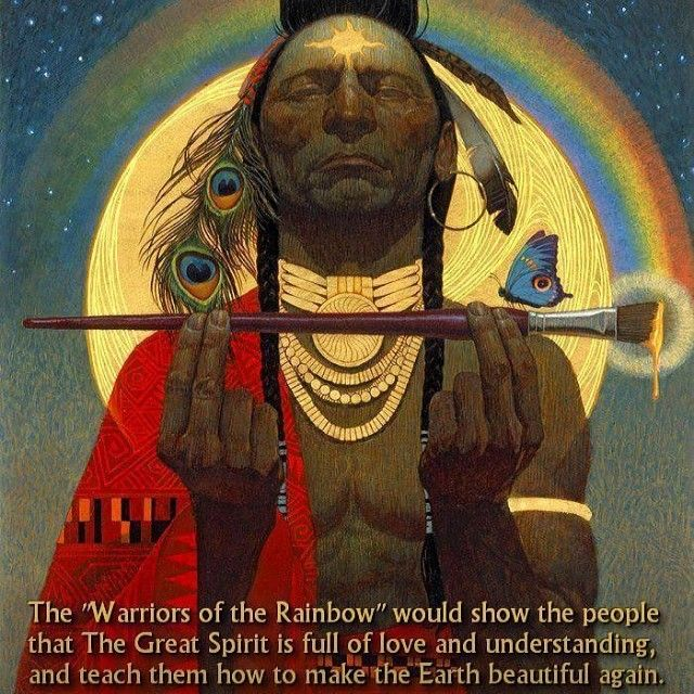Does anybody know who painted this? #warriorsoftherainbow #visionaryart