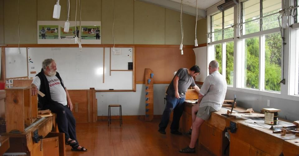 a picture of the former woodworking classroom at bruce mclaren