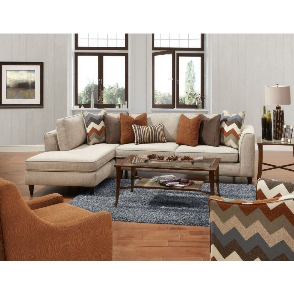 Fusion Furniture The 3426 28 Snapshot Cappuccino Sectional