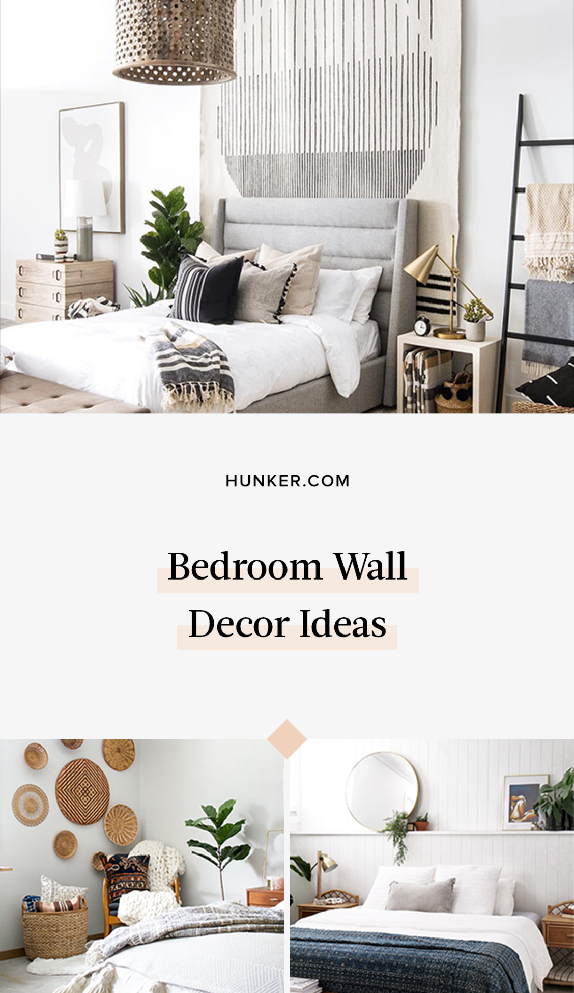 8 Clever Bedroom Wall Decor Ideas To Make The Most Of That Blank Space Hunker Wall Decor Bedroom Bedroom Wall Decor Above Bed Above Bed Decor