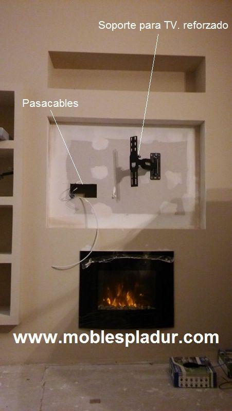 Mueble de pladur para instalar TV con todos sus accesorios y ...