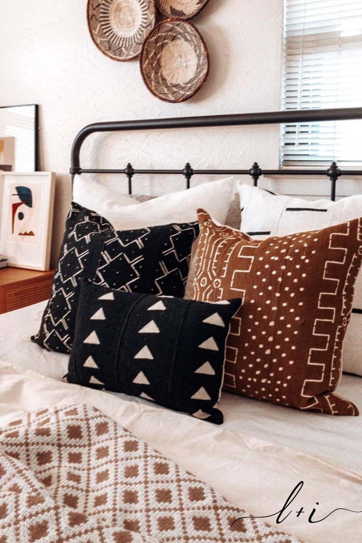 Handmade Mud Cloth Throw Pillows