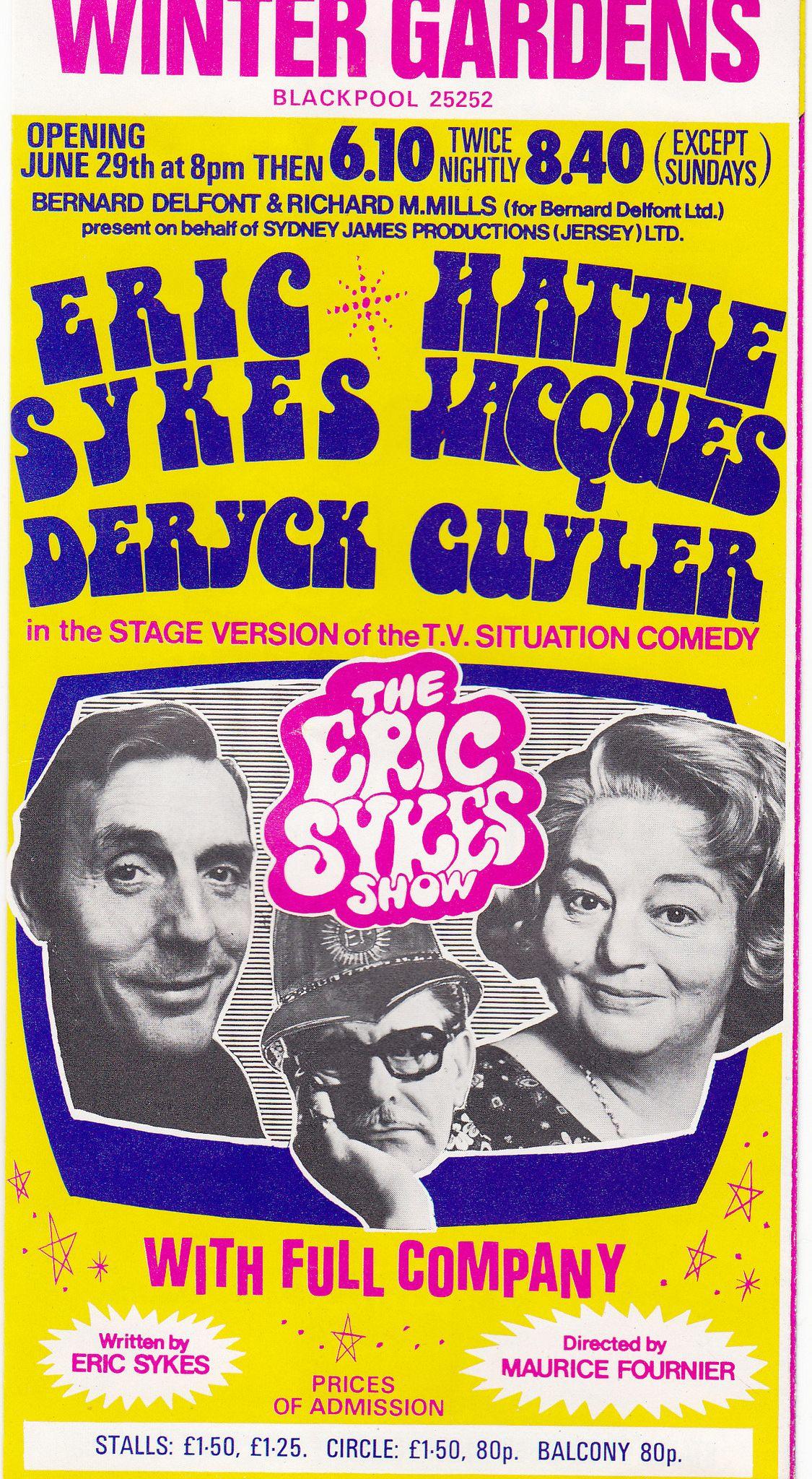 60 u0027s winter gardens theatre blackpool handbill eric sykes