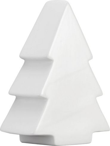 Eleganter Dekoweihnachtsbaum aus Porzellan - schlicht und elegant