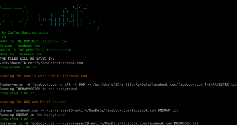 Id Entify Is A Tool That Allows You To Search For Information In