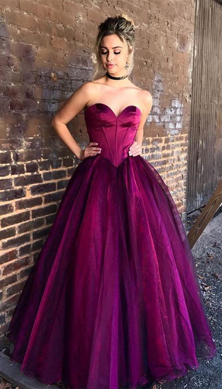 2018 Long Prom Dress, Elegant Sweetheart Long Prom Dress Evening ...
