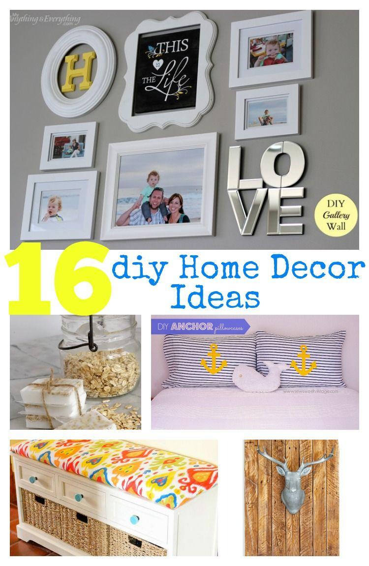 16 DIY Home Decor Ideas | Como organizar, Decoraciones de casa y Leer