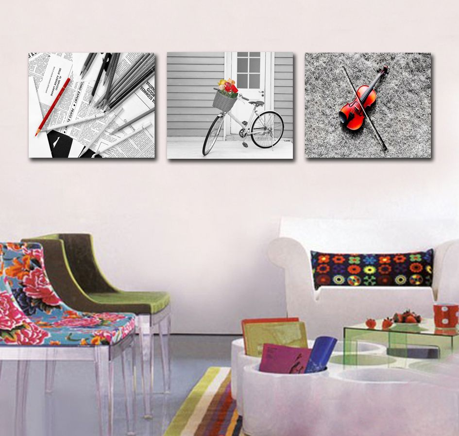 Free shipping 3 piece canvas wall art Paintings for living room wall ...