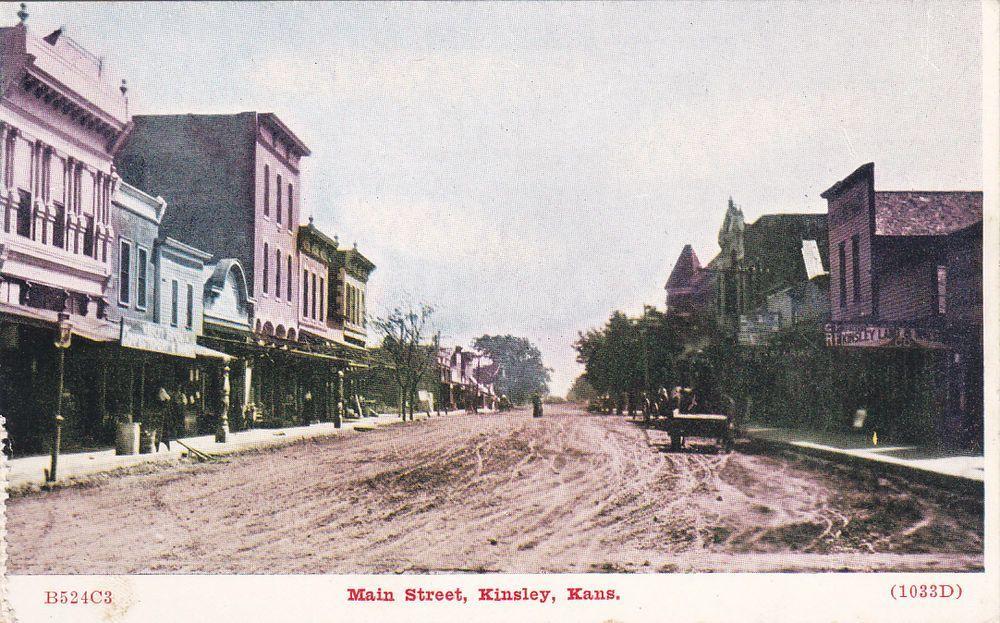 RPPC Main Street in Concordia Kansas 1950 -Used