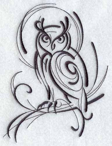 Abstract Owl Design Tribal Owl Tattoos Tribal Tattoos Owl Tattoo