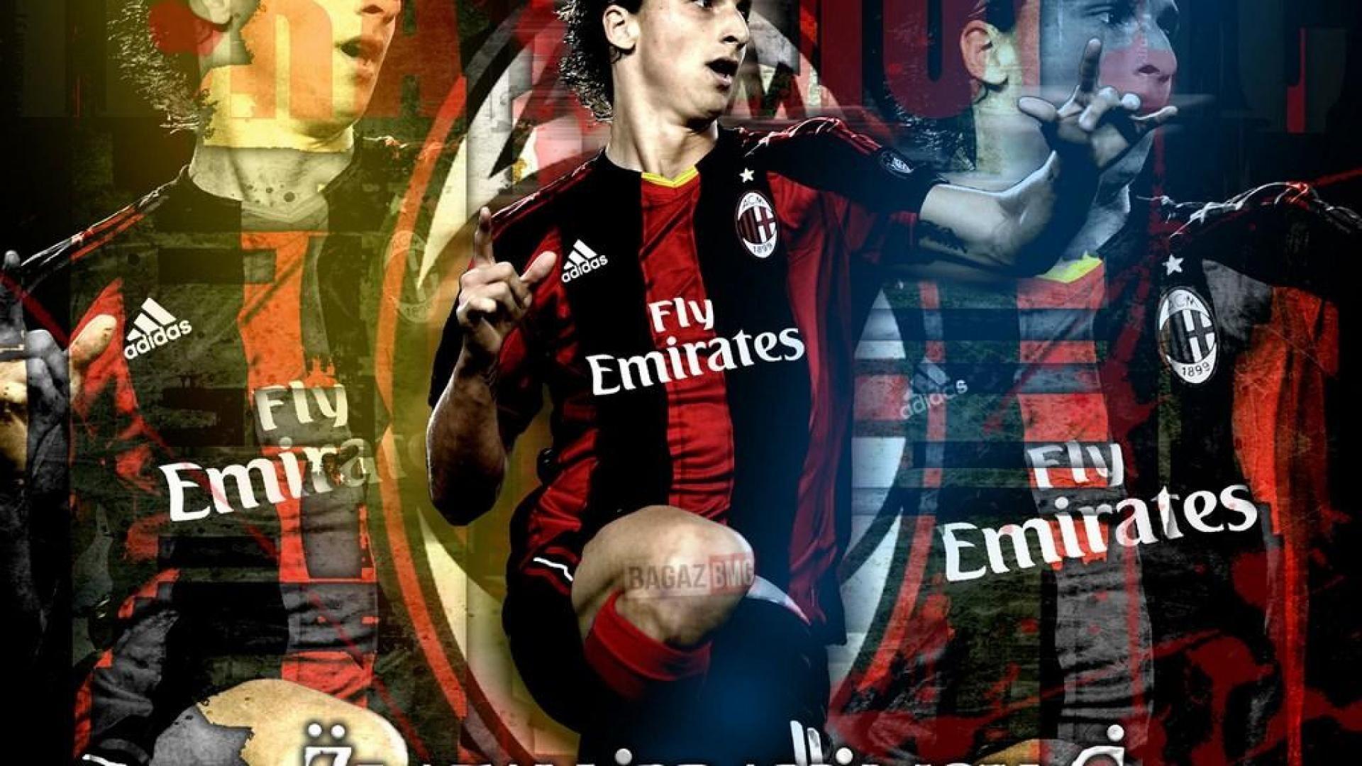 Zlatan Ibrahimovic Ac Milan Wallpapers 1920x1080 Con Immagini