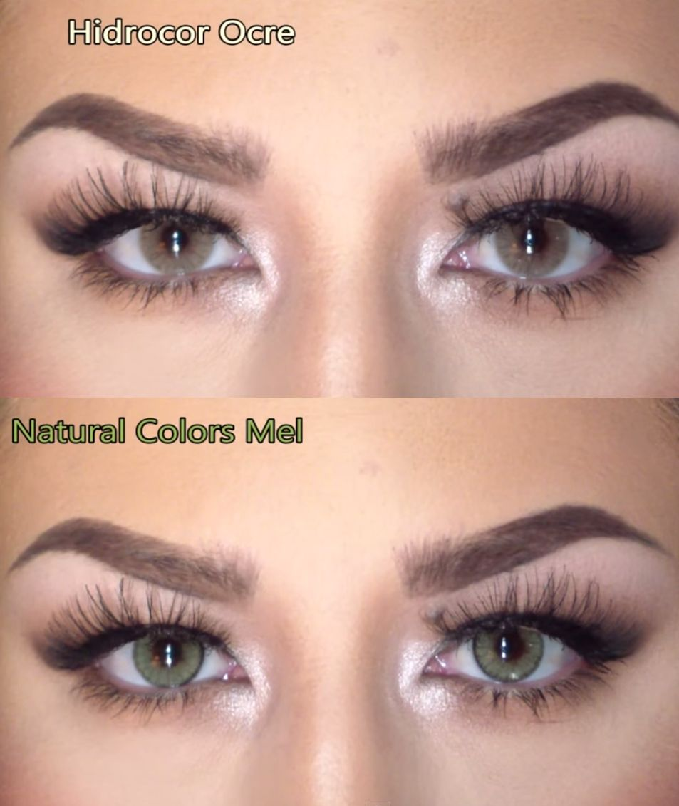 Contacts: Solotica Hidrocor In Ocre And Solotica Natural Colors In