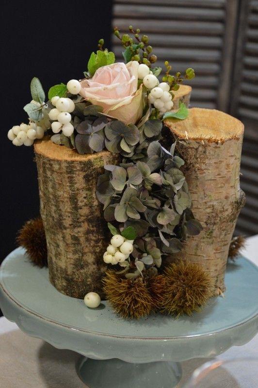automne les tables d coratives de stef compo florale pinterest les tables table et automne. Black Bedroom Furniture Sets. Home Design Ideas