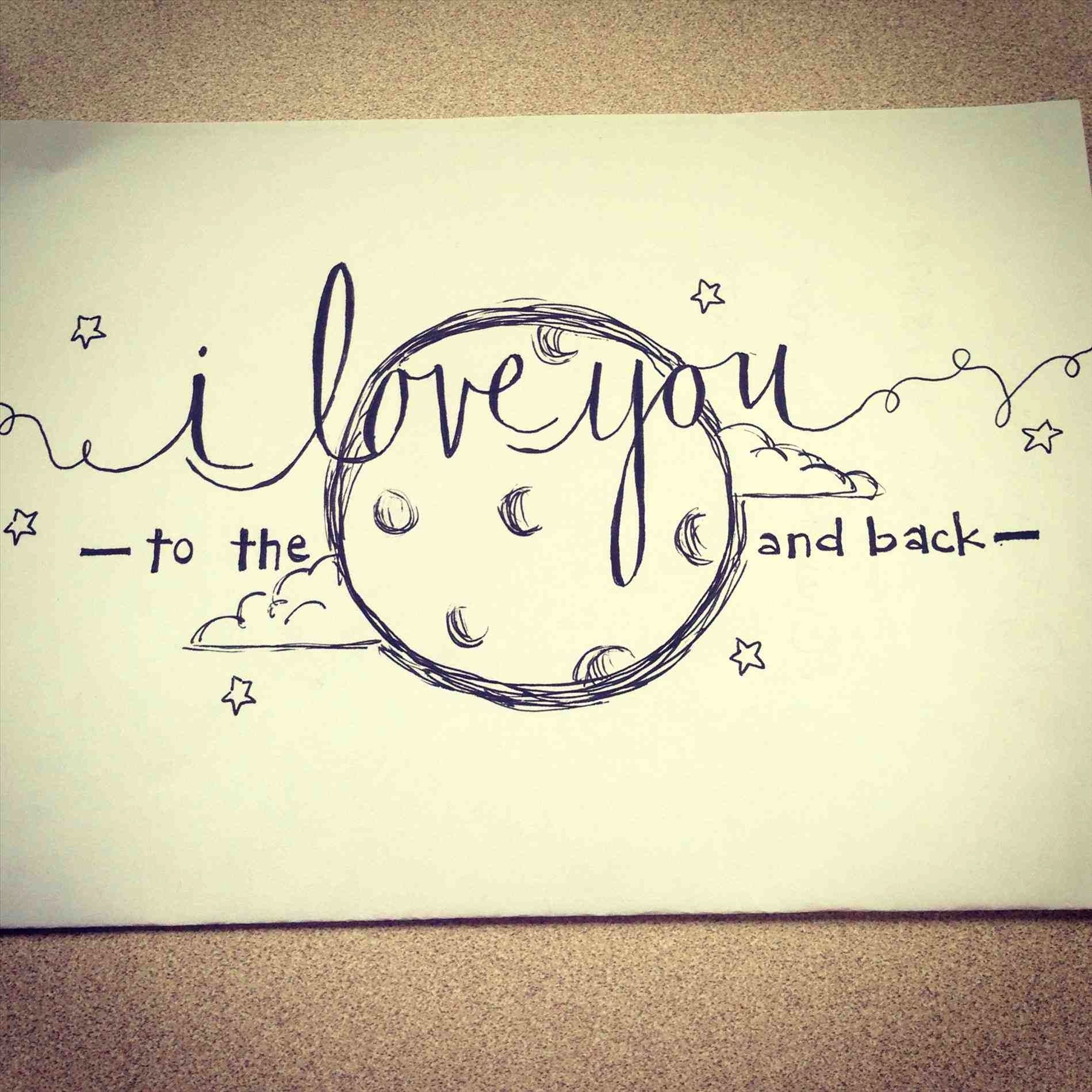 Cute Drawing Ideas (With images) | Cute drawings of love, Drawings ...
