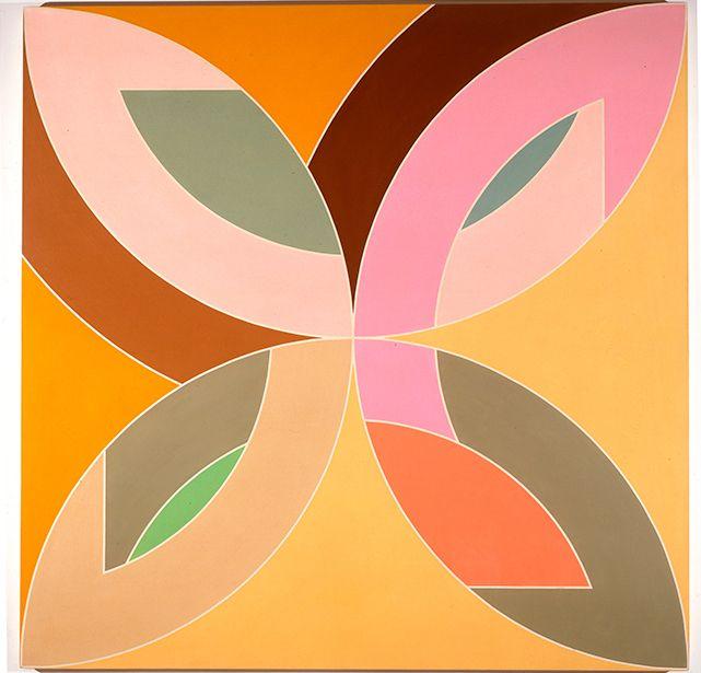 Frank Stella (USA b. 1936)Flin Flon (1970) polymer and fluorescent polymer paint on canvas 274.3 x 274.3 cm