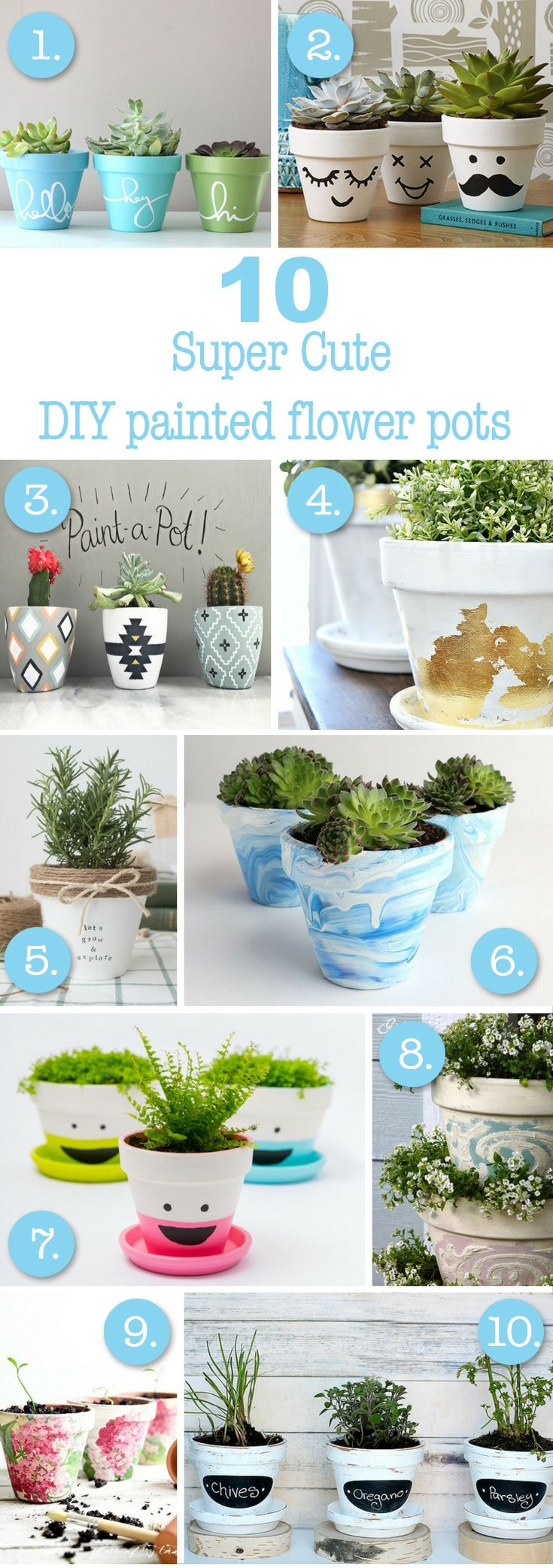 10 More Super Cute Ways To Diy Your Flower Pots Painted Flower