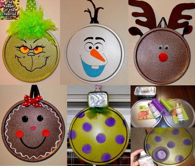 40 Homemade Christmas Ornaments  Christmas ornament crafts