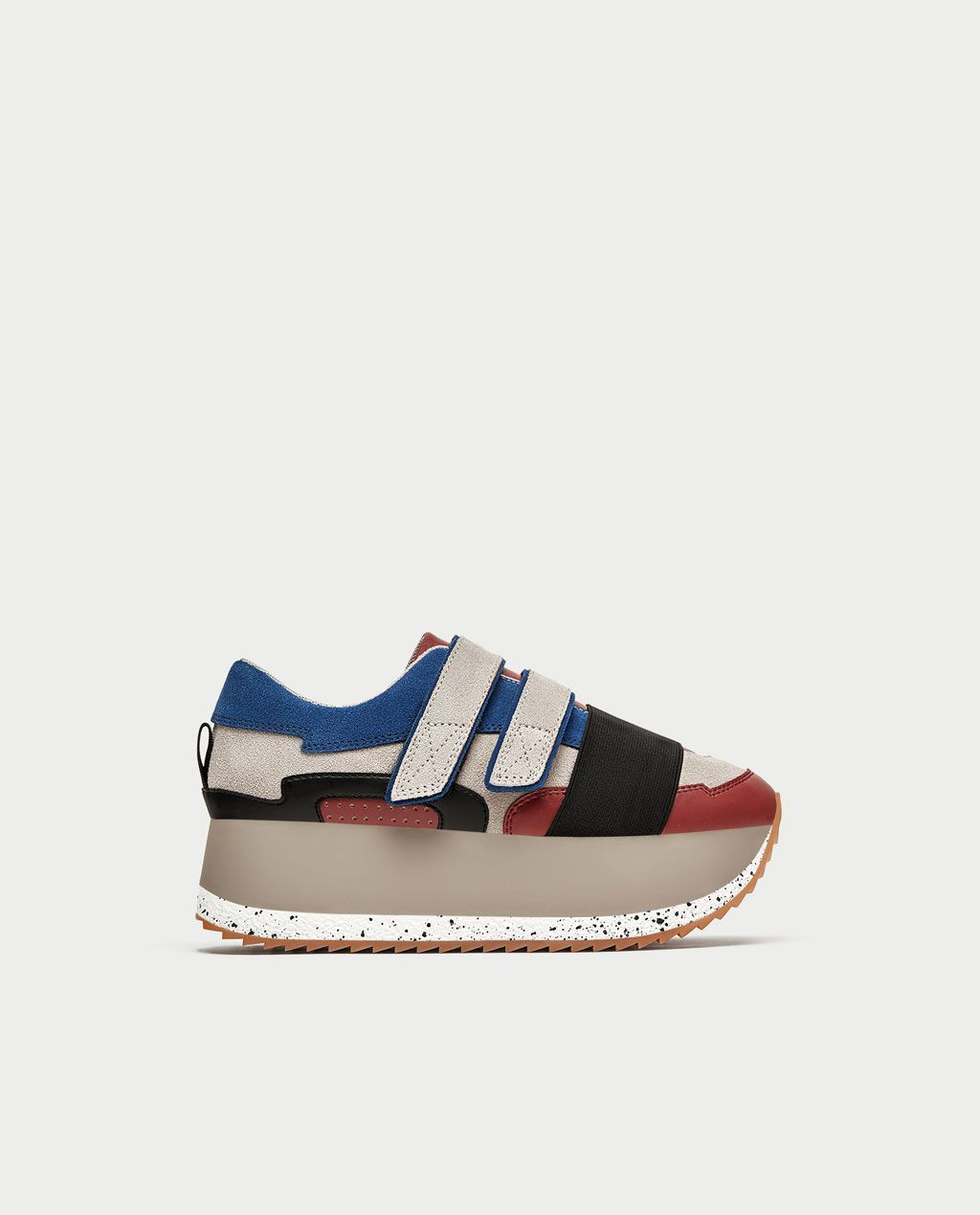 ab480f5a9f41 Image 2 of MULTICOLOURED PLATFORM SNEAKERS from Zara