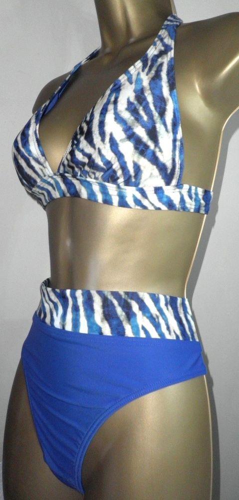 e584a2c705a46 SEXY LADIES MATALAN BLUE MIX PADDED HALTERNECK BIKINI SET SIZE 10/14 # fashion #clothing #shoes #accessories #womensclothing #swimwear (ebay link)
