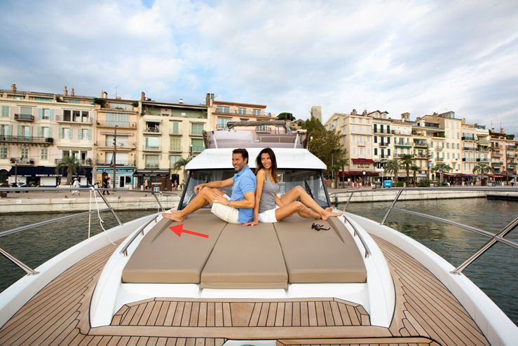 Jeanneau Velasco 43F The foredeck sun pad is all about