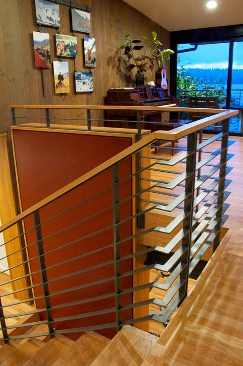 Mid Century Modern Addition Remodel Modern Stairs   Mid Century Modern Banister