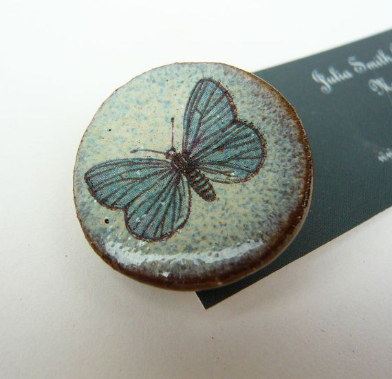 Vintage Butterfly Brooch by JuliaSmithCeramics on Etsy, £5.00