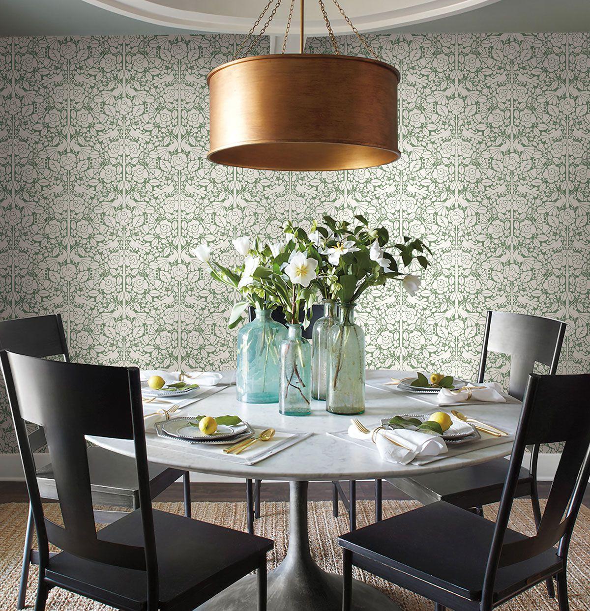 Magnolia Home Fairy Tales Wallpaper Green Magnolia