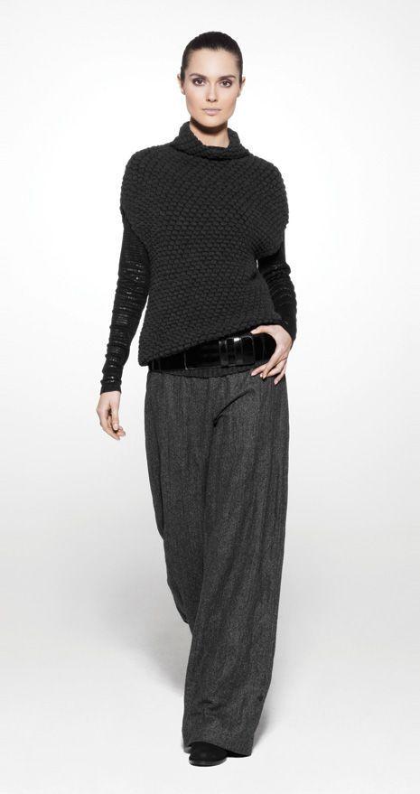 Baggy-Hose mit lässigem Pullover – bei 5 & # 39; würde die Hose aussehen wie s…