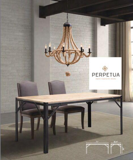 Madera y hierro... Una gran combinación! #sillas, #mesas, #comedor ...