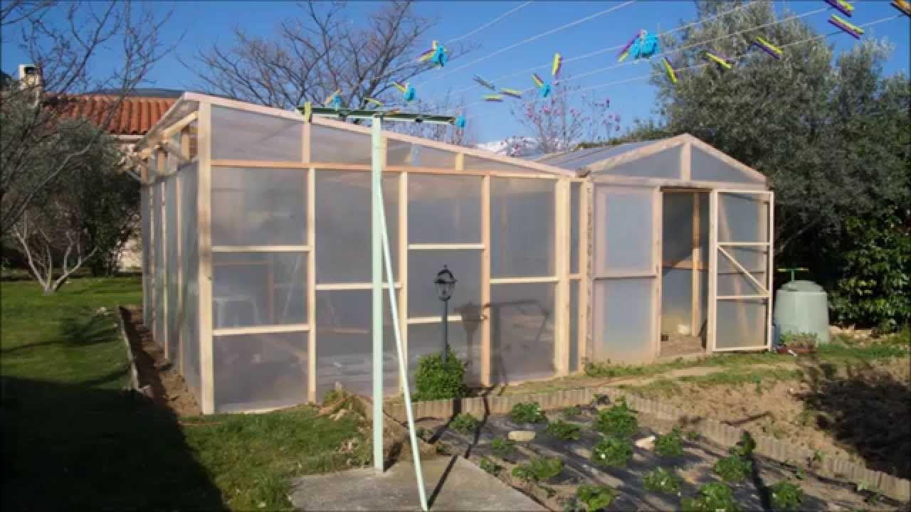 construire une serre en bois de 24m au jardin serre. Black Bedroom Furniture Sets. Home Design Ideas