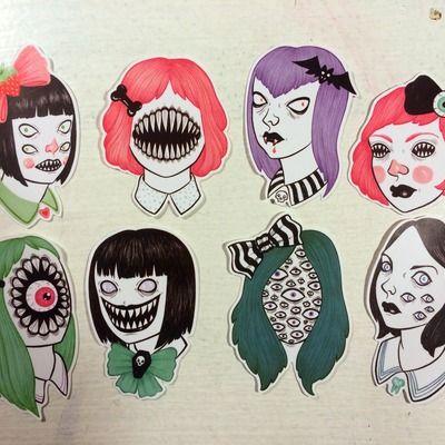 Monster girl sticker pack
