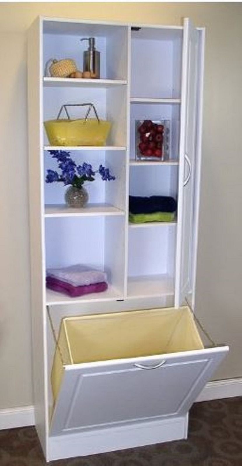 Linen Storage Cabinet with Hamper. What a great find ...