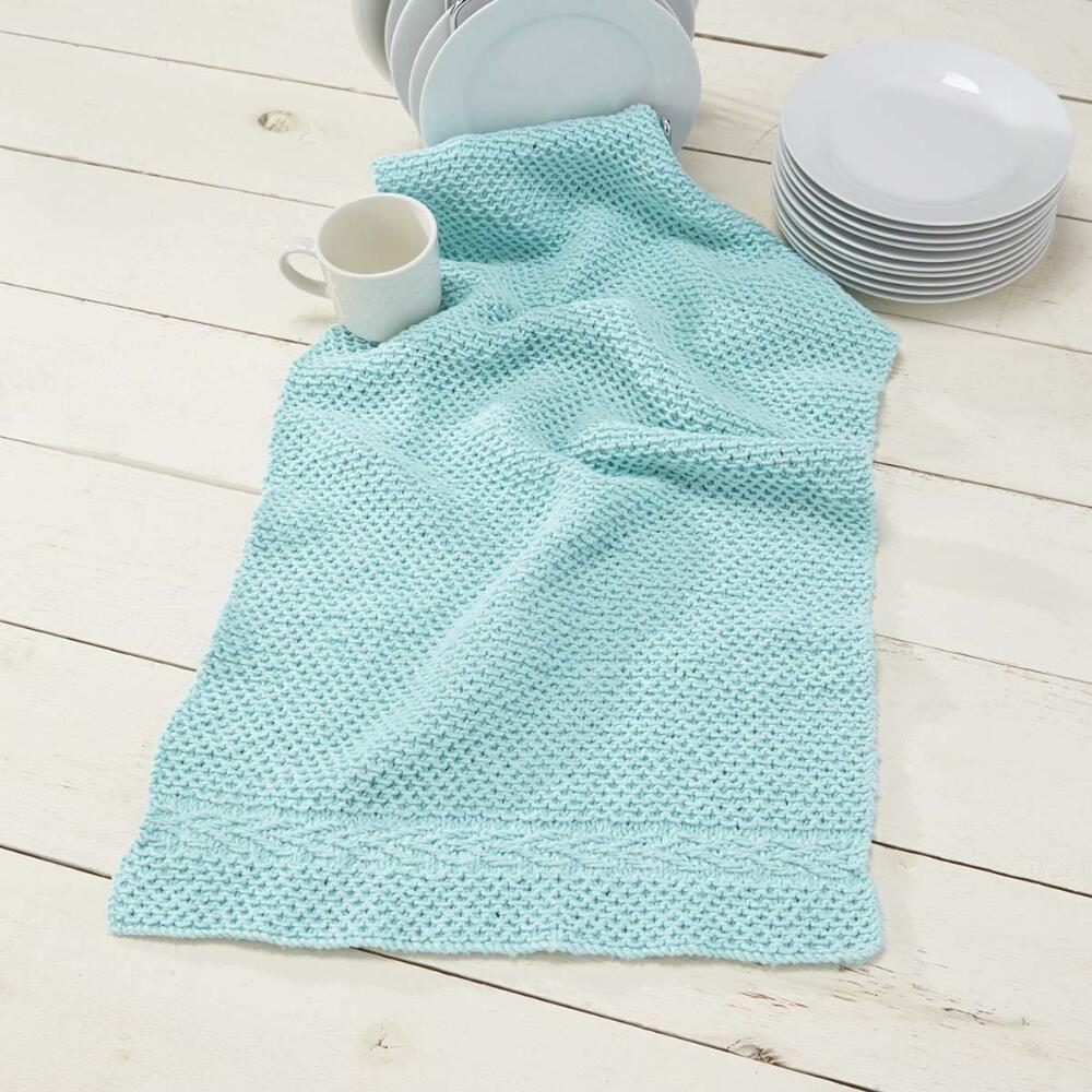 Knit Slip Stitch Dish Towel [FREE Pattern] | Knitting projects ...