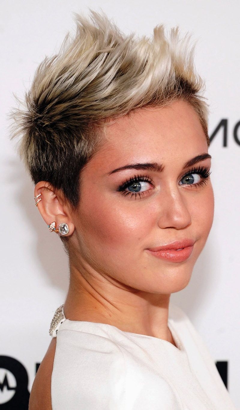 35 Awesome Short Hairstyles For Fine Hair Short Hair Styles For Round Faces Funky Hairstyles Funky Short Hair