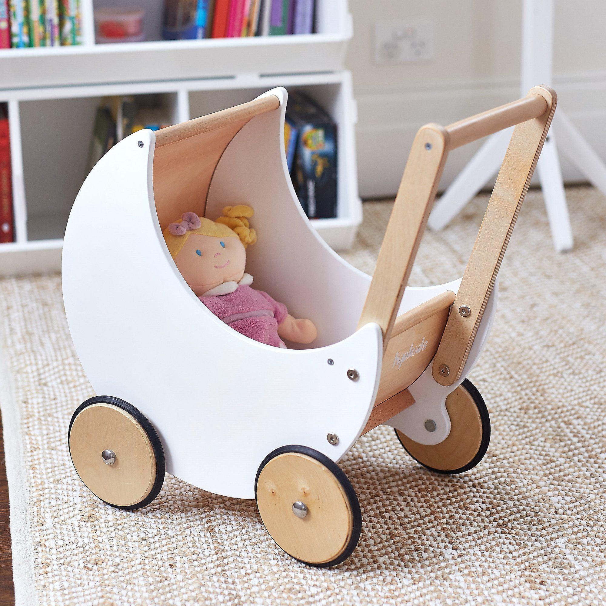 Wooden Moon Doll Pram Baby doll strollers, Dolls prams