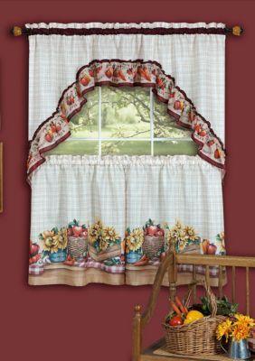 Achim Farmer S Market Printed Tier And Swag Window Curtain Set