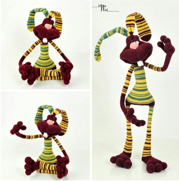 121 Crochet Pattern Rabbit Dude Keks Amigurumi soft toy | Etsy | 591x581