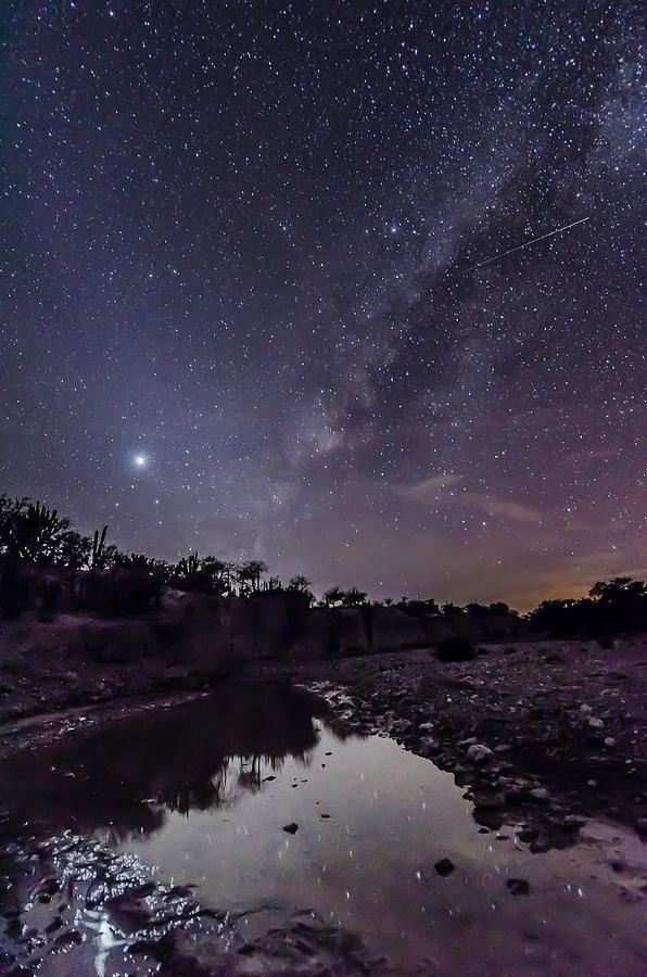 Desert Night Tumblr Milky Way Beautiful Nature Cool Landscapes
