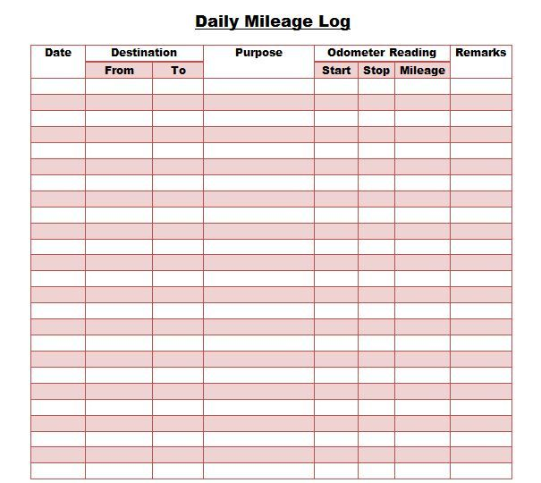 Mileage Log - If you\u0027re somebody who needs to track mileage, then