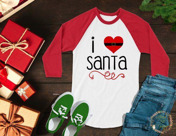 Download Santa SVG, I Love Santa SVG, Christmas Shirt, I heart ...