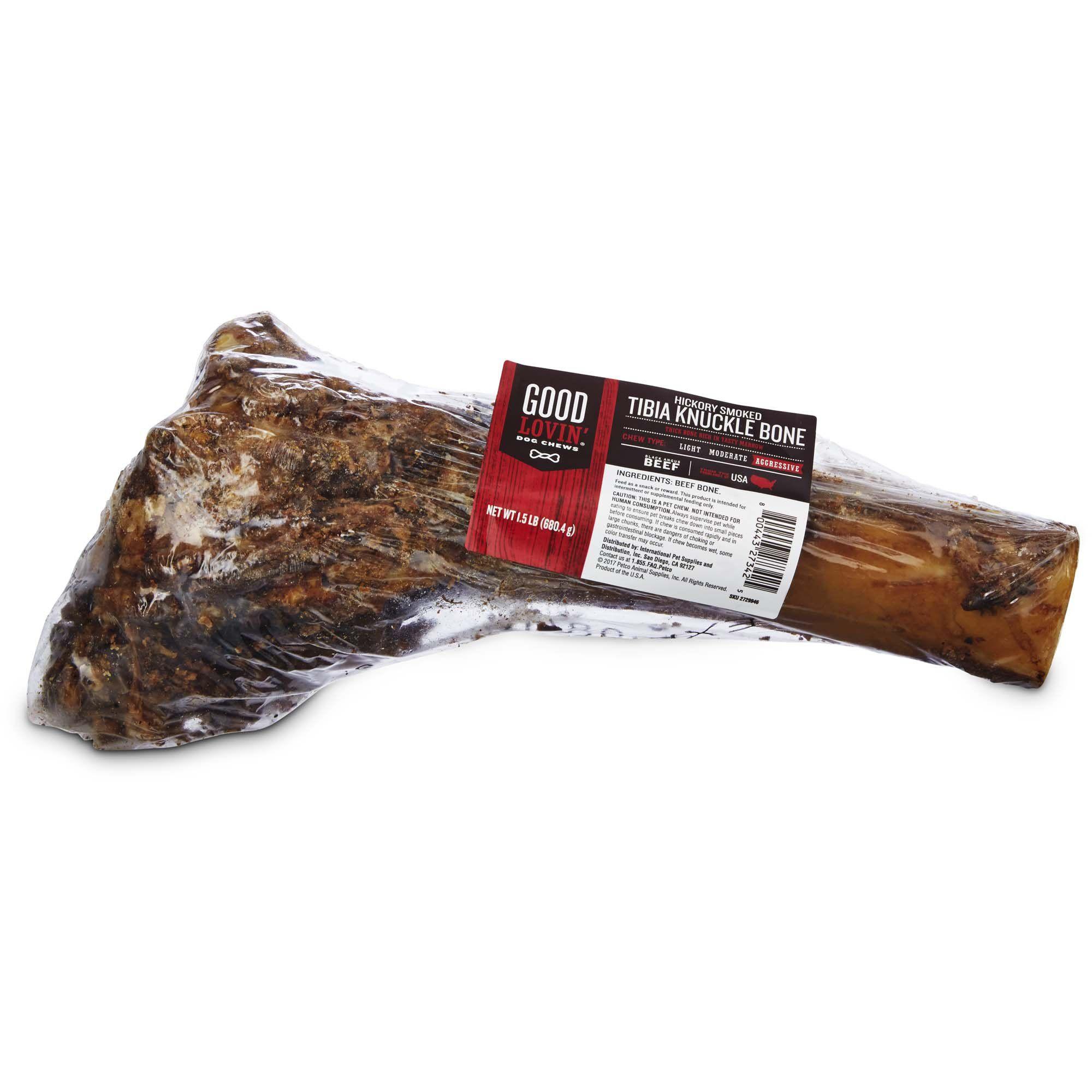Good Lovin Hickory Smoked Tibia Knuckle Bone Dog Chew 1 5 Lbs