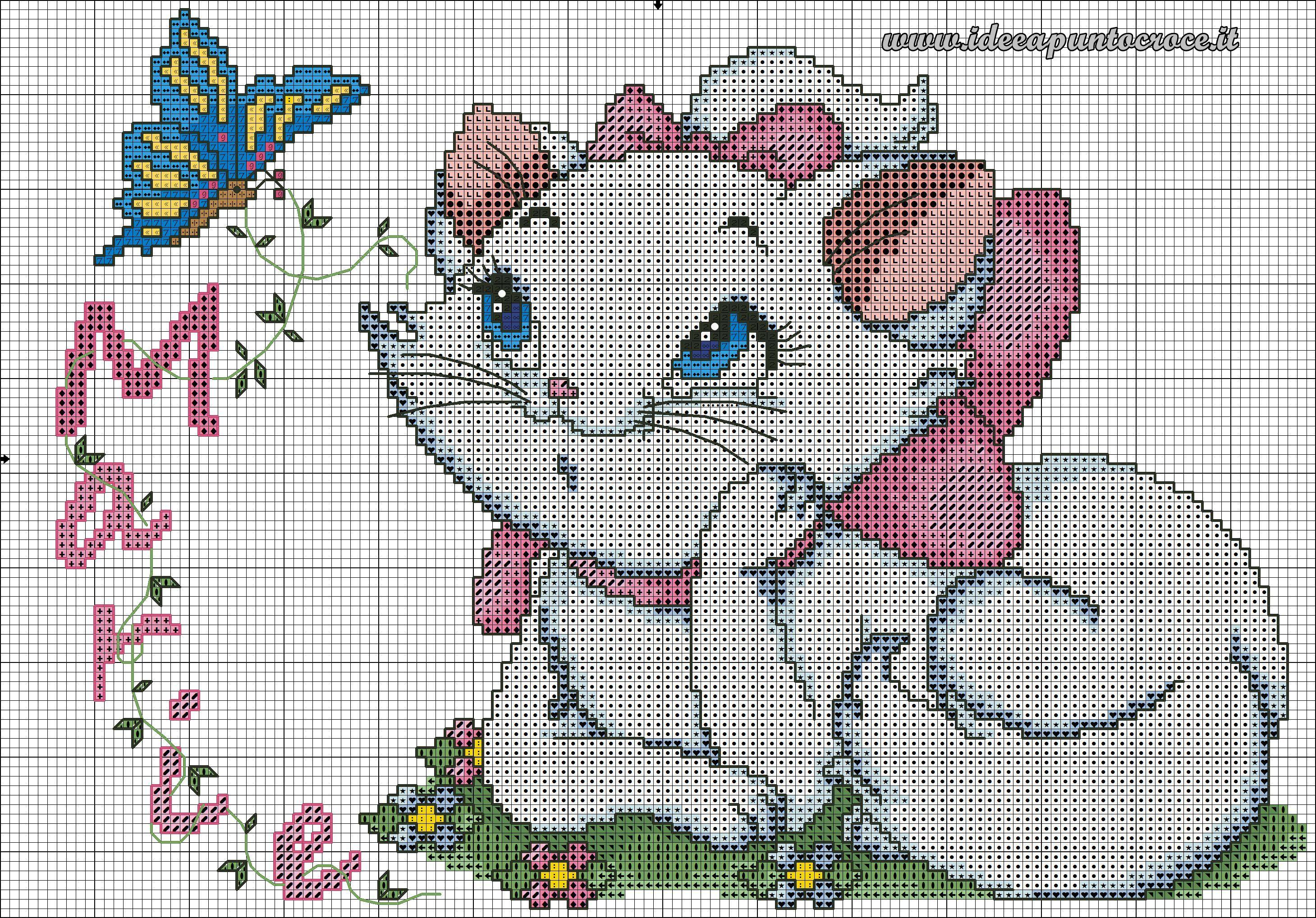 Molto schema Marie- Aristogatti punto croce | cross stitch | Pinterest  HR56