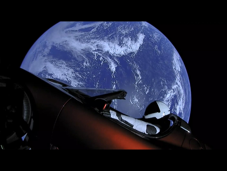 Starman Traveling By Earth Tesla roadster, Tesla sports
